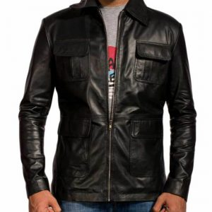 The Vampire Diaries Damon Salvatore Leather Jacket