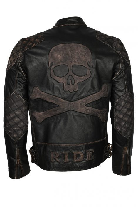 skull motorcycle jacket leather