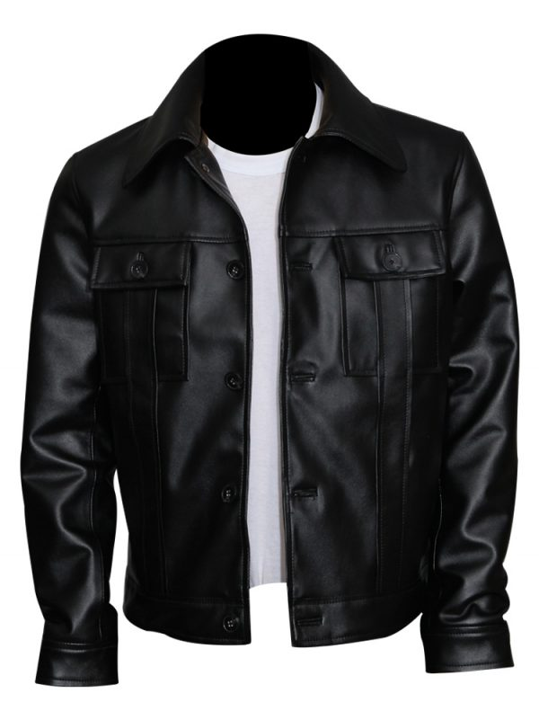 Genuine Leather Black Elvis Presley Jacket