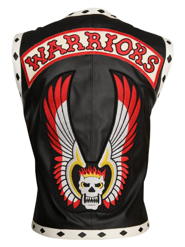 Men's Skull Black Warriors Vest