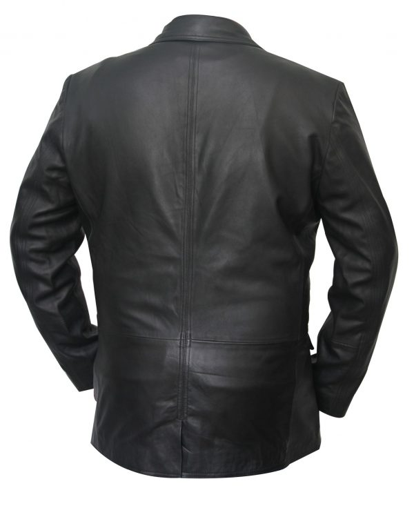 Mens Leather Blazer Coat