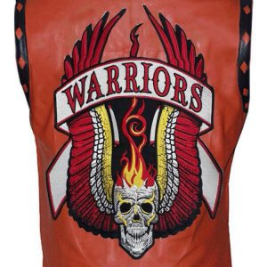 Tan Color Men's Warriors Vest (Faux Leather)