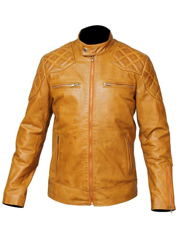 Tan David Beckham Jacket