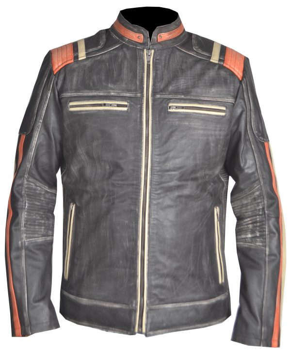 Vintage Motorcycle Leather Jacket
