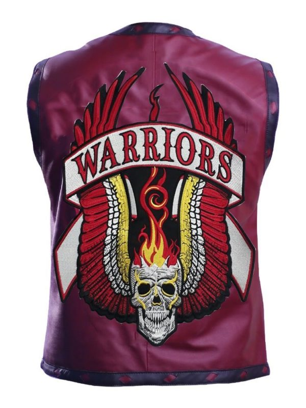 warriors vest faux leather