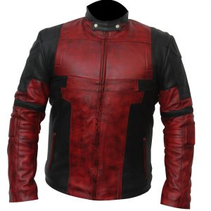 Deadpool Motorcycle Jacket Leather