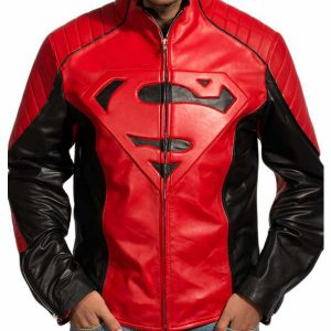 Superman Red Black Leather Jacket
