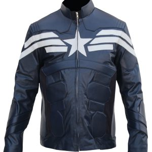 captain america leather jacket winter soldier