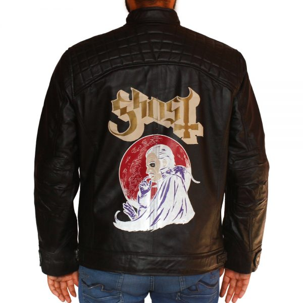 Bandit Men's Ghost Leather Motorcycle Club Leather Jacket