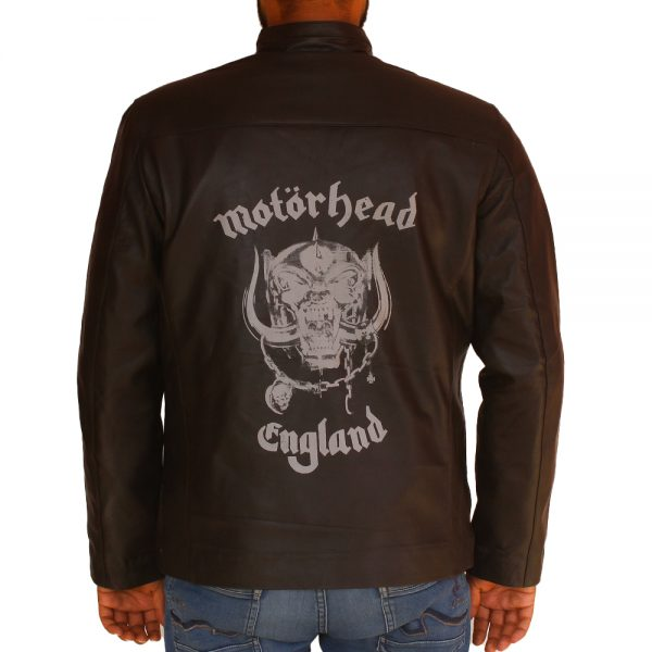 Men Halloween Motor Head England Leather Jacket