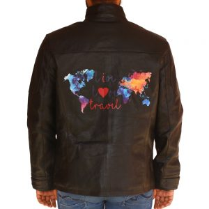 Men's Live Love Travel Leather Jacket