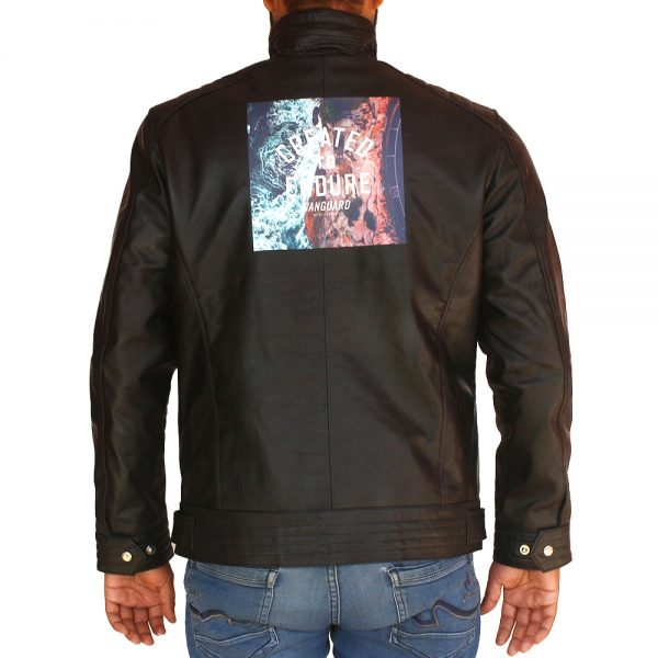 Men's Halloween Created To Endure Printed Leather Jacket